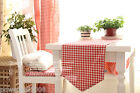 Rural Style Home Decoration Mosaic Grid Cotton Table Cloth / Cover 30cm X 180cm