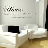 HOME WHERE YOU TREAT.. wall quote transfer graphic vinyl large stickers niq11