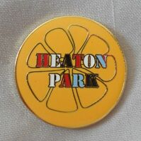 Stone Roses 'Heaton Park Lemon' Enamel Badge.Ian Brown,Primal Scream,Tickets.