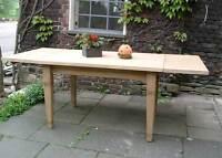 Esstisch Tisch Esszimmer Massiv Landhaus 150 cm, mit 2 Ansteckplatten Mod.02 Neu