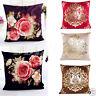 Vintage Cotton Linen Square Throw Pillow Case Floral Waist Cushion Cover Decor