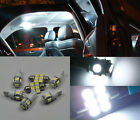 6pcs Bright White LED Lights Interior Package Kit Honda ACCORD 2003-2011