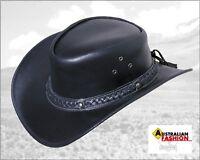 Lederhut Westernhut Cowboyhut Frisco schwarz, Gr. S 54*55, Scippis Reiter Hut
