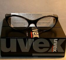 Uvex Bandit Safety/Shooting/Riding Glasses w/ Black Frame & Clear Lens - NEW