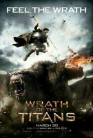 WRATH OF THE TITANS (2012) ADV ORIGINAL DOUBLE SIDED FILM MOVIE POSTER 69x102cm