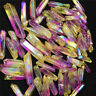 50g 6-9pcs Rainbow AURA FLAME Titanium Seed Quartz Crystal POINT Healing