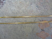 """14KT Yellow Gold Thin Box Link Chain NECKLACE 20"""" Long New......... NEW"""