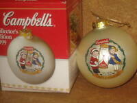 Campbells Soup Christmas Tree Ornament 1999 MIB Collectible Holiday Decoration
