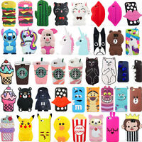 Cute 3D Cartoon Rubber Soft Silicone Case Cover For Samsung Galaxy S8 S8Plus