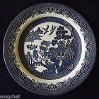 """Lovely 10-1/4"""" Churchill Blue Willow Dinner Plate Made in Staffordshire England"""
