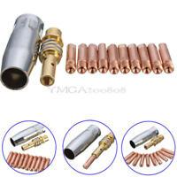 12 pcs MB 15AK MIG/MAG Welding Contact 0.8x25mm M6 Gas Nozzle Tip Holder Set Kit