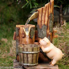 New Fashion Home Decorative 18.5*14*29.5cm Resin Piggy Flowing Water Fountain