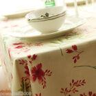 Rural Style Stripe/Flowers Cotton Table Cloth / Cover 140cm X 140cm