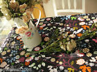 Rural Style Home Decoration Flowers Cotton Table Cloth / Cover 140cm X 140cm