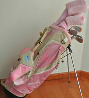 New Ciscobay Hybrid Golf Clubs Ladies Club Pink Set 17 PCS With Stand Bag Petite