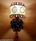 Bohemia Rural Style 1*Light Iron+Crystal H25cm Decorative Colorful Wall Lamp