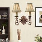 European Rural Resin Width 39 cm Height 38 cm 2 Lights Bronze Wall Lamp/Light