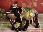 European Creative Red Resin L26*W13*H24 CM Two Elephants Shape Decorative Gift