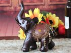 European Creative Dark Red Resin L24*W12*H17 CM Elephant Shape Decorative Gift