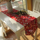 Rural Style Home Decoration Red Flowers Cotton Table Cloth / Cover 30cm X 120cm