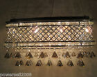 9383 Modern Simple L60*W22*H30cm 6 Lights Living Room Iron Crystal Chandelier