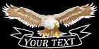 Eagle Wide Wing XL Your Text TEXTO A DESEO Parche bordado iron-on patch