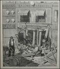 GRAVURE PARIS LA CATASTROPHE DE LA RUE SAINT DENIS LES DÉCOMBRES old print 1884