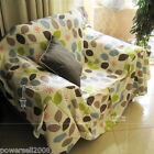 Pastoral Style Cloth Leaf Top Grade Sofa Cover 190CM * 330CM