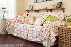 Pastoral Style Lattice Cotton Sofa Cloth 220CM Sofa Cover Cloth