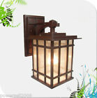 European Retro Style Outdoor Glass + Aluminum Red Copper Color 1*Light Wall Lamp
