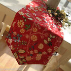 Rural Style Home Decoration Red Flowers Cotton Table Cloth / Cover 30cm X 180cm