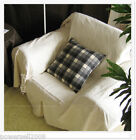 Simple Modern Cloth Solid Color White Rice Top Grade Sofa Cover 190CM * 230CM