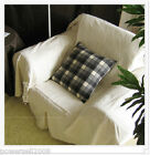 Simple Modern Cloth Solid Color White Rice Top Grade Sofa Cover 190CM * 330CM
