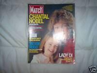 PARIS MATCH 1877 (05/85)CHANTAL NOBEL,lady Diana