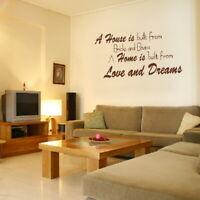 HOUSE BUILT BRICKS BEAMS WALL DECAL STICKER QUOTE giant stencil vinyl mural QU2