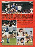 Football Programme - Fulham v Preston North End - Div 2 1979