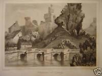 Gravure du Château d' ESPALY 1845