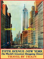 100770 New York Fifth Avenue Travel Decor WALL PRINT POSTER US