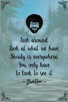 101097 Bob Ross Look Around Beauty Is Everywhere Quote WALL PRINT POSTER AU