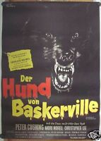 HUND VON BASKERVILLE (Kinoplakat '59) - HORROR / HAMMER / CHRISTOPHER LEE