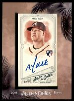 2018 Topps Allen and Ginter Framed Mini Autographs #MAAM A.J. Minter Auto