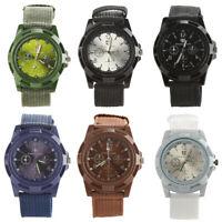 Men's Military Army Style Nylon Band Sports Analog Quartz Wrist Watch Lot Soft