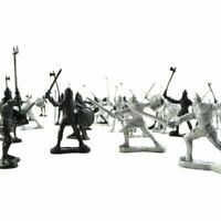Toy Soldiers Model Playset Knights Warriors Horses Figures Kids Children Gift