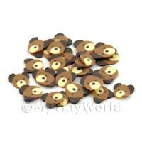50 Brown Bear Cane Slices Doll House Nail Art (DNS50)