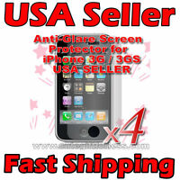4x Apple iPhone 3G S 3GS Anti Glare Screen Protectors