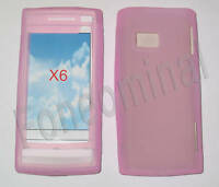 For Nokia X6 X6-00 Silicone Skin Soft Case Cover Pouch Pink New UK