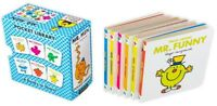 Mr. Men Pocket Library 6 Board Books Collection Set
