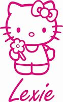 Hello Kitty personalised wall art girls bedroom sticker