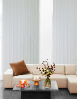 "Vertical Blind Slats 89mm (3 1/2"") White, Cream & Beige"