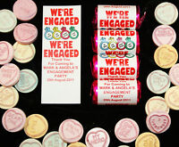 Personalised Mini Love Hearts Engagement Favours/Sweets